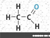 pic of acetone  - Organic chemical formula - JPG