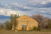 picture of collapse  - Old abandoned a collapsed building in Ukraine - JPG