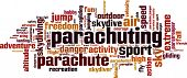 picture of parachute  - Parachuting word cloud concept - JPG