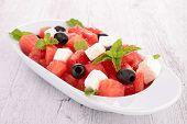 stock photo of watermelon  - watermelon salad - JPG
