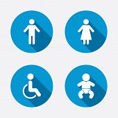 picture of handicapped  - WC toilet icons - JPG