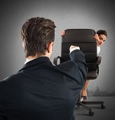 picture of humiliation  - Boss chides an employee who tries hide - JPG