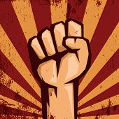 stock photo of fist  - Protest logo - JPG