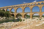 stock photo of aqueduct  - The Pont du Gard  - JPG