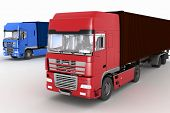 foto of semi trailer  - Trucks with semi - JPG