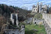 foto of fairy tail  - Romantic castle ruins in woods of cental Europe - JPG