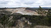 picture of mines  - Old and abandoned Limestone mine Koneprusy Czech republic - JPG