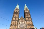 picture of dom  - The Bremer Dom Cathedral in the city of Bremen Germany - JPG