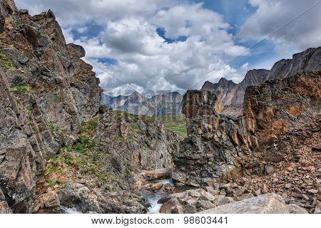 Beautiful Rocks In A Mountain Canyon