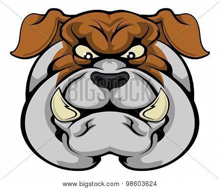 Bulldog Mascot Face