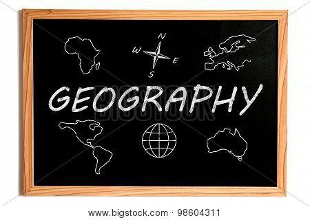 Geography Chalkboard