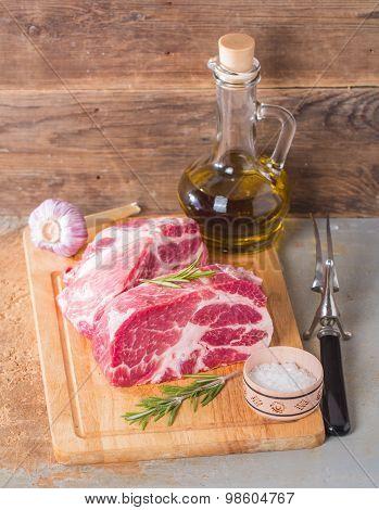 Fresh Raw Pork Meat Chops