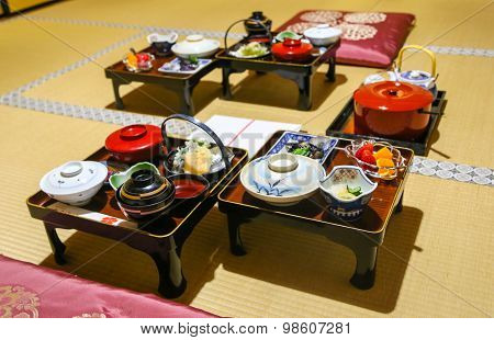 Traditional Japanese Buddhist Monk Meal