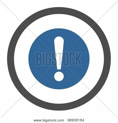 Problem flat cobalt and gray colors rounded raster icon