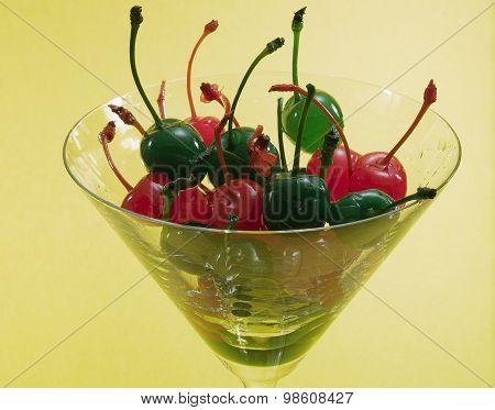 Red And Green Maraschino Cherries