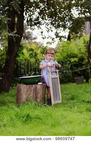 Girl  With A Washboard, A Little Helper