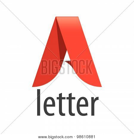 Vector Logo Red Letter A In The Form Of A Tape