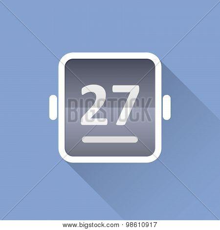 Simple tear-off calendar icon