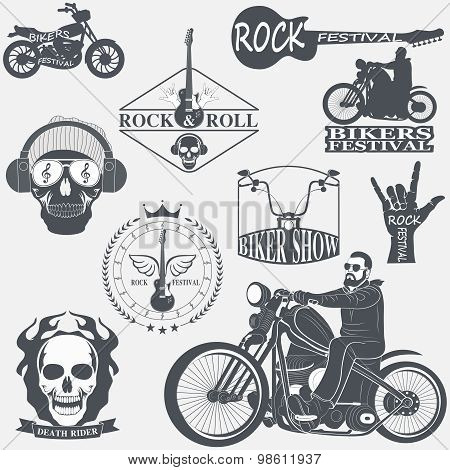 Rock themed badges