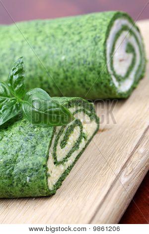 Rolos de espinafre