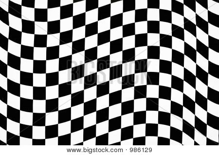 Wavy Checkered Background