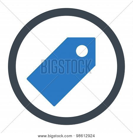 Tag flat smooth blue colors rounded raster icon