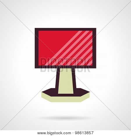 Red ad billboard flat vector icon