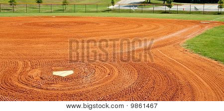 Graded Baseball Field With Home Plate