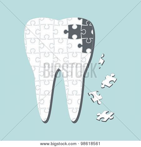 Caries. Vector illustration.
