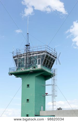 Air traffic control in Lyon-Bron airport, France