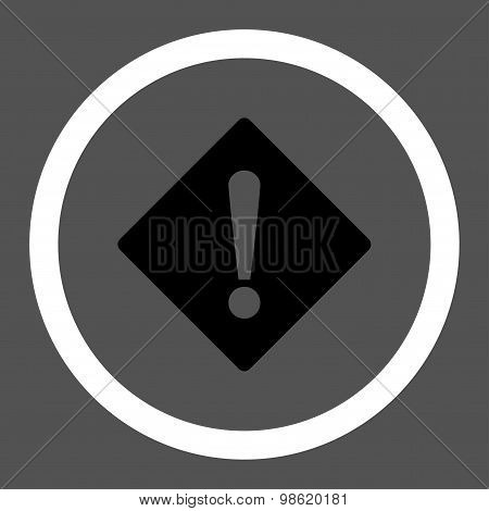 Error flat black and white colors rounded raster icon