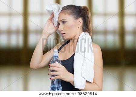 Woman sweat