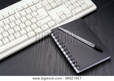 Stationery and keyboard
