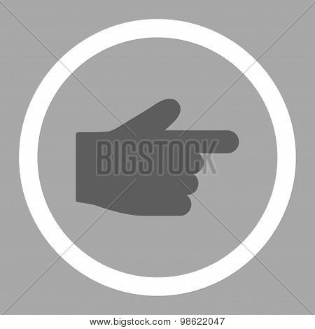 Index Finger flat dark gray and white colors rounded raster icon