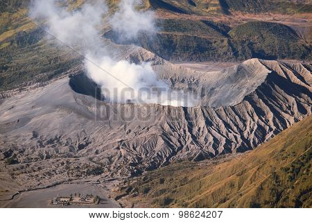 Creater Of Bromo Volcano, East Java, Indonesia