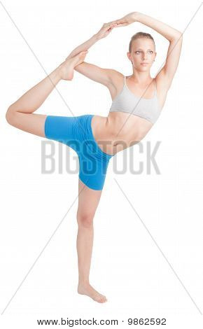 Woman Stretching Doing Yoga