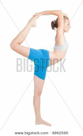 Woman Exercise In Flexibility