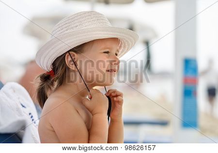 Baby Girl And A Hat