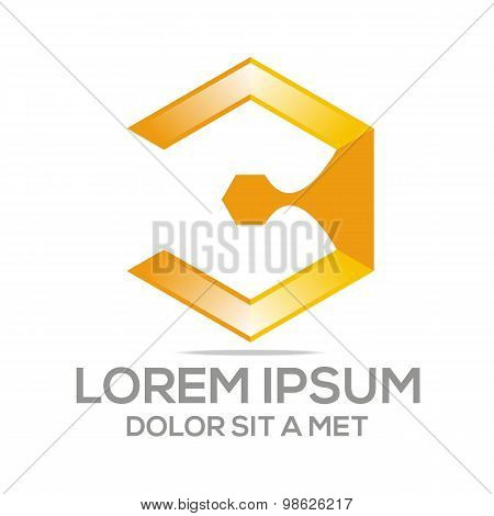 Logo business abstract position company vector