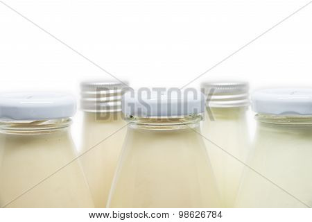 Milk And Soymilk Bottles Isolated