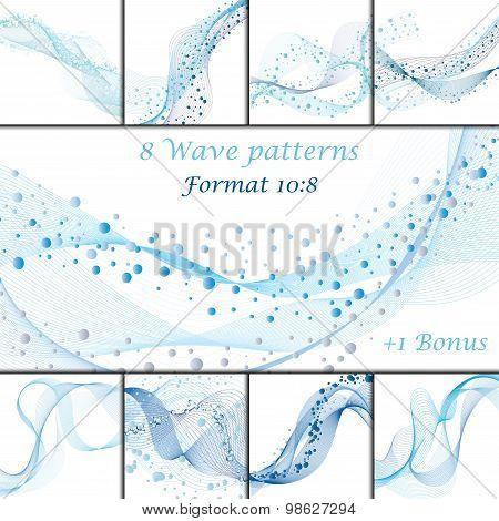 Set Of Wave Patterns