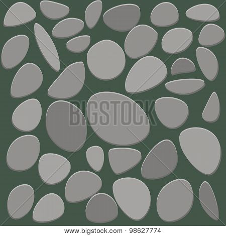 Stone floor tile on white background