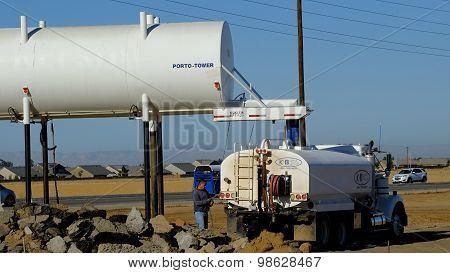 Loading Water Truck