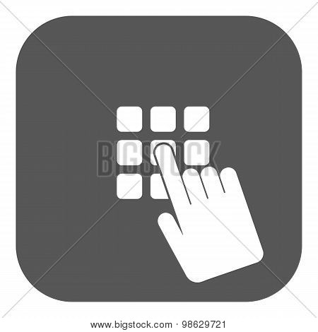 The pin code icon. Password and  unlock, access, identification, unlock symbol. Flat