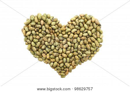 Roasted Salted Soy Nuts In A Heart Shape
