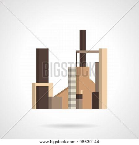 Radio engineering plant flat vector icon
