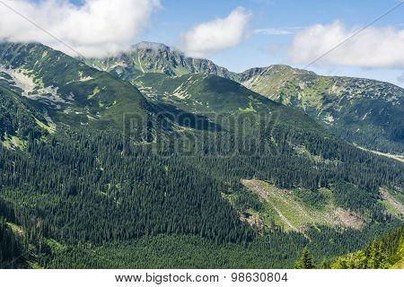 Summer Landscape Of Western Tatra Mountains