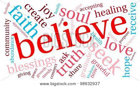 Believe Word Cloud