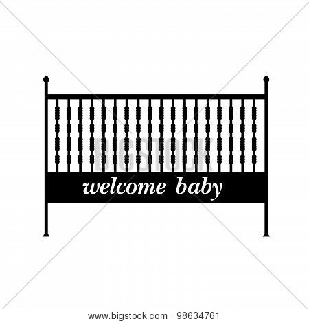 Baby Crib Vector Illustration