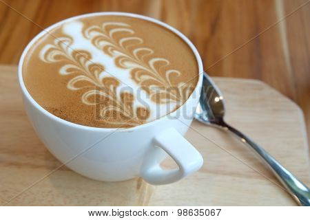 A Cup Of Caffe Latte Art